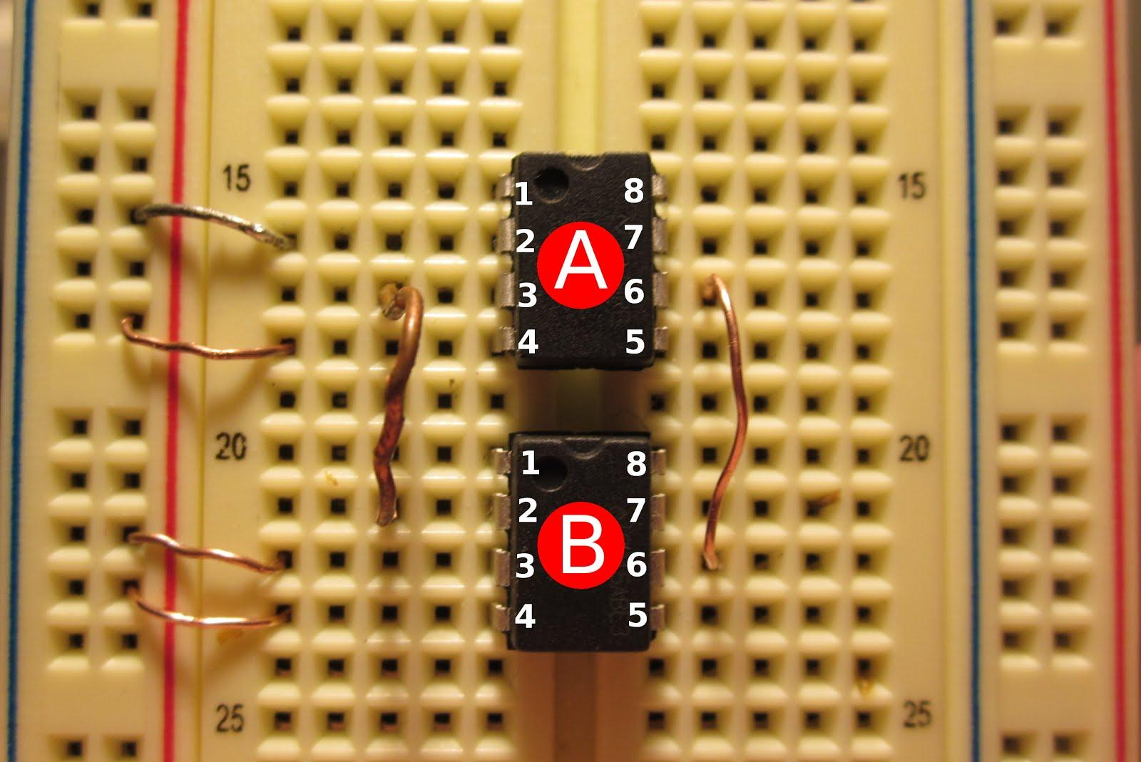 Audio amp breadboard jumpers